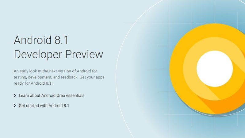 Android 8.1 Preview 2
