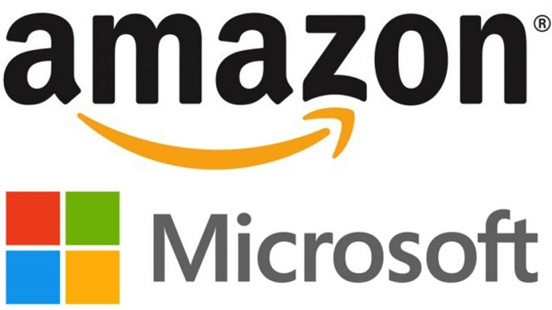 Microsoft y Amazon