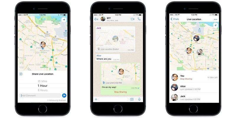 WhatsApp Lanza Nueva Función de Ubicación en Vivo