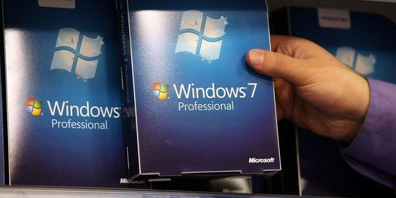 Windows 7 de Microsoft en Caída