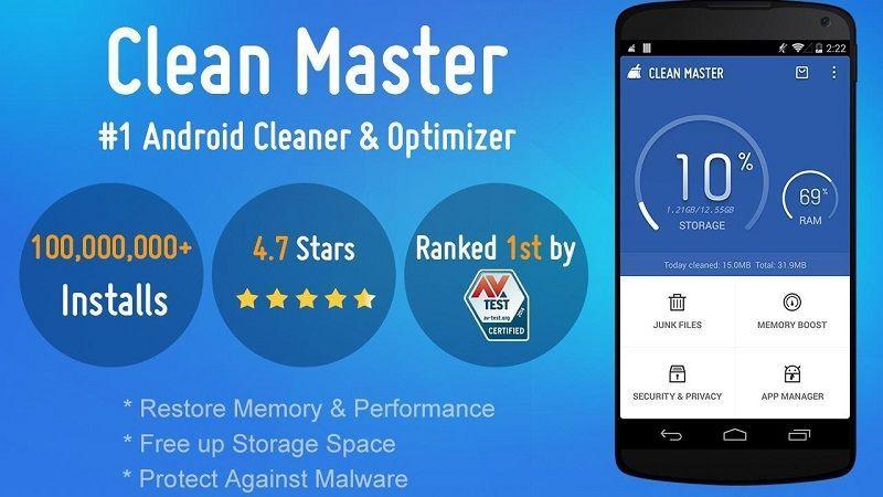 clean master es una de las aplicaciones más usadas para limpiar teléfonos inteligentes